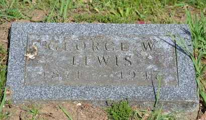 LEWIS, GEORGE W. - Branch County, Michigan | GEORGE W. LEWIS - Michigan Gravestone Photos