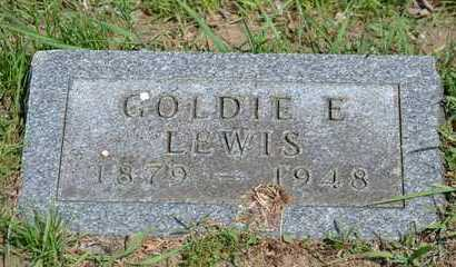 LEWIS, GOLDIE E. - Branch County, Michigan | GOLDIE E. LEWIS - Michigan Gravestone Photos