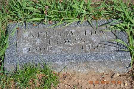LEWIS, KEITHA IDA - Branch County, Michigan | KEITHA IDA LEWIS - Michigan Gravestone Photos