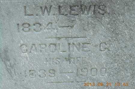 LEWIS, L.W. - Branch County, Michigan | L.W. LEWIS - Michigan Gravestone Photos
