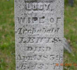 LEWIS, LUCY(CLOSEUP) - Branch County, Michigan | LUCY(CLOSEUP) LEWIS - Michigan Gravestone Photos