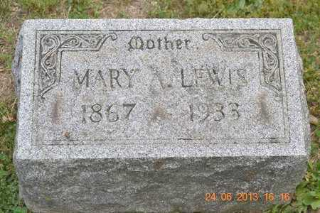 LEWIS, MARY A. - Branch County, Michigan   MARY A. LEWIS - Michigan Gravestone Photos