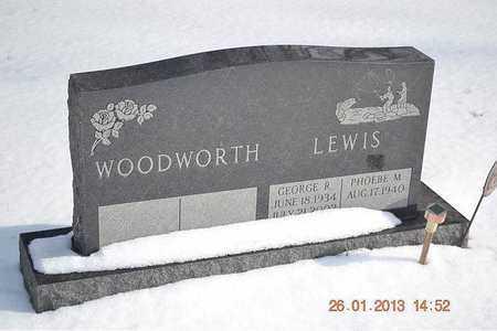 LEWIS, PHOEBE M. - Branch County, Michigan | PHOEBE M. LEWIS - Michigan Gravestone Photos