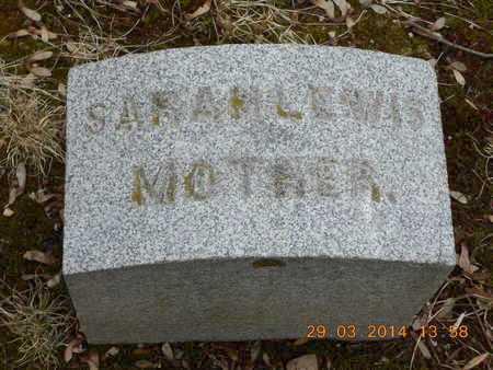 LEWIS, SARAH - Branch County, Michigan | SARAH LEWIS - Michigan Gravestone Photos