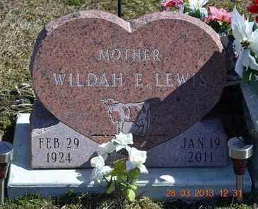 LEWIS, WILDAH E. - Branch County, Michigan | WILDAH E. LEWIS - Michigan Gravestone Photos