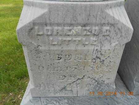 LITTLE, LORENZO D. - Branch County, Michigan | LORENZO D. LITTLE - Michigan Gravestone Photos