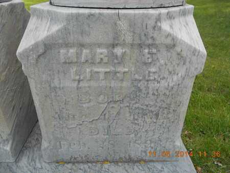 LITTLE, MARY E. - Branch County, Michigan | MARY E. LITTLE - Michigan Gravestone Photos