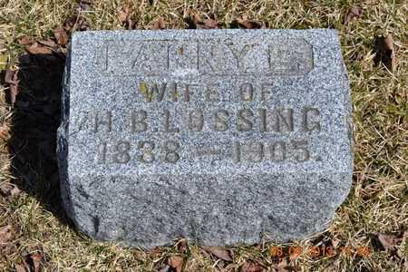 LOSSING, FANNY E. - Branch County, Michigan | FANNY E. LOSSING - Michigan Gravestone Photos