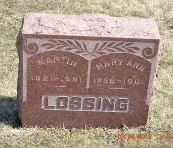 LOSSING, MARTIN - Branch County, Michigan | MARTIN LOSSING - Michigan Gravestone Photos