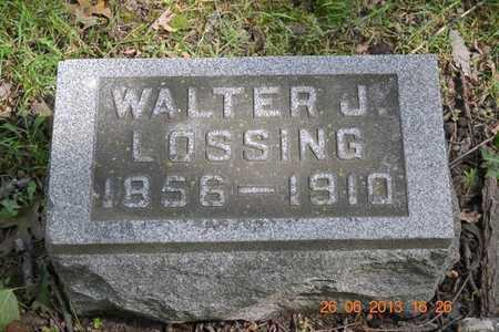 LOSSING, WALTER J. - Branch County, Michigan | WALTER J. LOSSING - Michigan Gravestone Photos