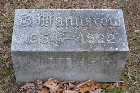 MANNEROW, BARBARA - Branch County, Michigan   BARBARA MANNEROW - Michigan Gravestone Photos