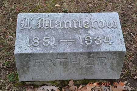 MANNEROW, LEVI - Branch County, Michigan   LEVI MANNEROW - Michigan Gravestone Photos