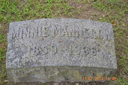 MANNEROW, MINNIE - Branch County, Michigan   MINNIE MANNEROW - Michigan Gravestone Photos
