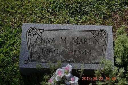 MARTIN, ANNA M. - Branch County, Michigan   ANNA M. MARTIN - Michigan Gravestone Photos