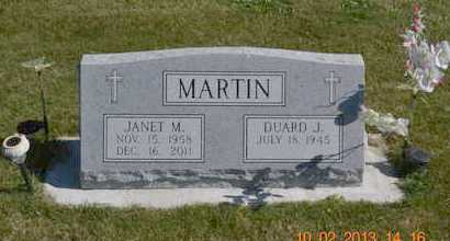 MARTIN, JANET M. - Branch County, Michigan | JANET M. MARTIN - Michigan Gravestone Photos