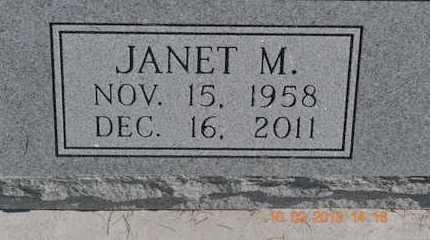 MARTIN, JANET M. - Branch County, Michigan   JANET M. MARTIN - Michigan Gravestone Photos