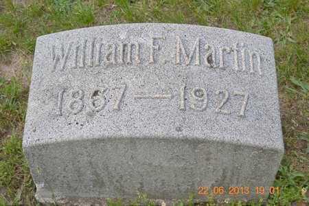 MARTIN, WILLIAM F. - Branch County, Michigan | WILLIAM F. MARTIN - Michigan Gravestone Photos