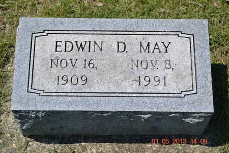 MAY, EDWIN D. - Branch County, Michigan   EDWIN D. MAY - Michigan Gravestone Photos