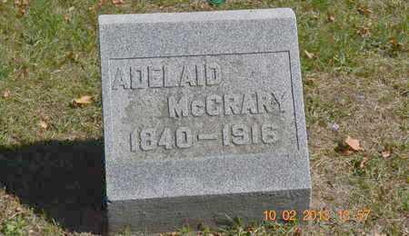 MCCRARY, ADELAID - Branch County, Michigan | ADELAID MCCRARY - Michigan Gravestone Photos