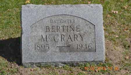 MCCRARY, BERTINE - Branch County, Michigan   BERTINE MCCRARY - Michigan Gravestone Photos