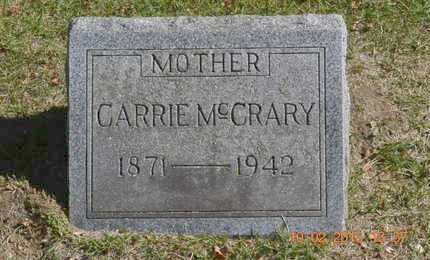 MCCRARY, CARRIE - Branch County, Michigan | CARRIE MCCRARY - Michigan Gravestone Photos