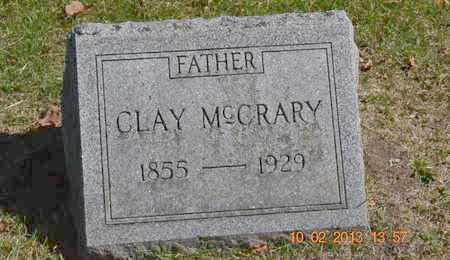 MCCRARY, CLAY - Branch County, Michigan | CLAY MCCRARY - Michigan Gravestone Photos