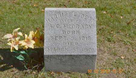 DEAN MCCRARY, HARRIET E. - Branch County, Michigan | HARRIET E. DEAN MCCRARY - Michigan Gravestone Photos