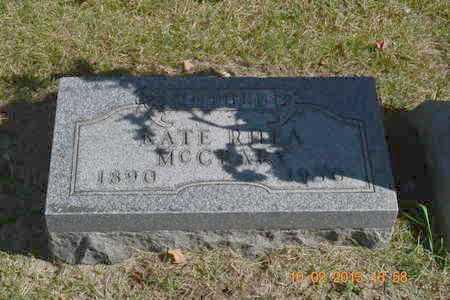 MCCRARY, KATE RHEA - Branch County, Michigan   KATE RHEA MCCRARY - Michigan Gravestone Photos