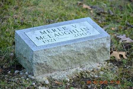 MCLAUGHLIN, MERLE V. - Branch County, Michigan | MERLE V. MCLAUGHLIN - Michigan Gravestone Photos