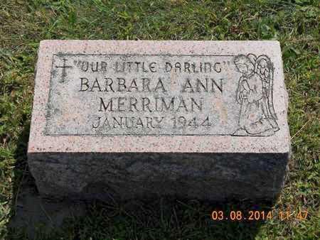 MERRIMAN, BARBARA ANN - Branch County, Michigan | BARBARA ANN MERRIMAN - Michigan Gravestone Photos