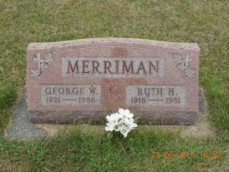 MERRIMAN, RUTH H. - Branch County, Michigan | RUTH H. MERRIMAN - Michigan Gravestone Photos