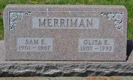 MERRIMAN, SAM E. - Branch County, Michigan | SAM E. MERRIMAN - Michigan Gravestone Photos