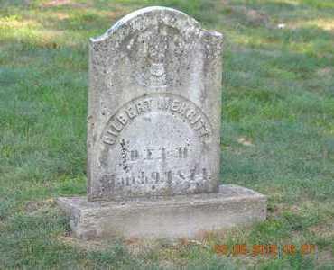 MERRITT, GILBERT - Branch County, Michigan   GILBERT MERRITT - Michigan Gravestone Photos