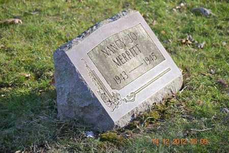 MERRITT, NANCY JO - Branch County, Michigan   NANCY JO MERRITT - Michigan Gravestone Photos