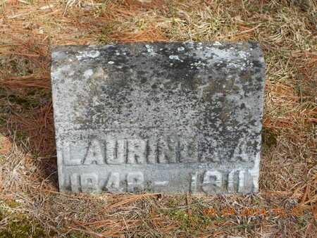 MILLER, LAURINDA A. - Branch County, Michigan | LAURINDA A. MILLER - Michigan Gravestone Photos