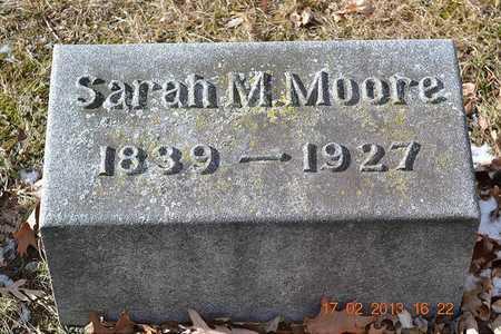 MOORE, SARAH M. - Branch County, Michigan | SARAH M. MOORE - Michigan Gravestone Photos