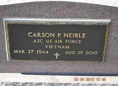 NEIBLE, CARSON P. - Branch County, Michigan   CARSON P. NEIBLE - Michigan Gravestone Photos
