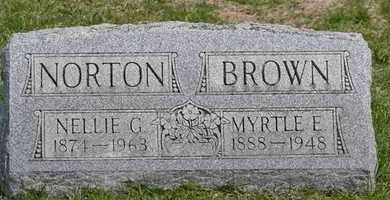 BROWN, MYRTLE E. - Branch County, Michigan | MYRTLE E. BROWN - Michigan Gravestone Photos