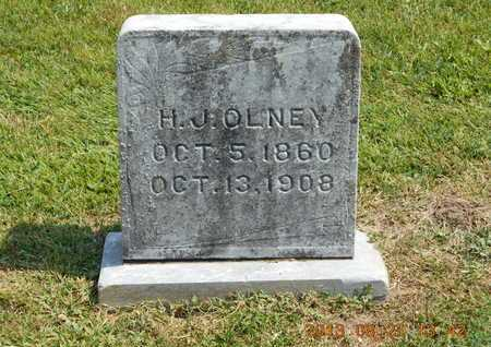 OLNEY, H.J. - Branch County, Michigan | H.J. OLNEY - Michigan Gravestone Photos