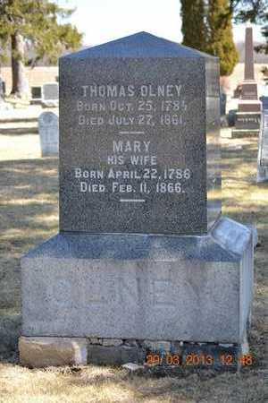 OLNEY, MARY - Branch County, Michigan | MARY OLNEY - Michigan Gravestone Photos