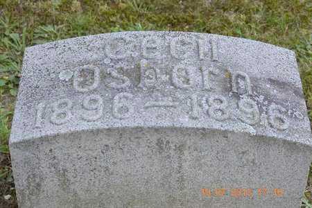 OSBORN, CECIL - Branch County, Michigan   CECIL OSBORN - Michigan Gravestone Photos
