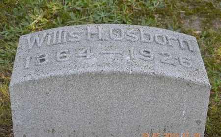 OSBORN, WILLIS H. - Branch County, Michigan   WILLIS H. OSBORN - Michigan Gravestone Photos