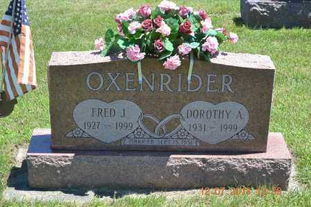 OXENRIDER, DOROTHY A. - Branch County, Michigan | DOROTHY A. OXENRIDER - Michigan Gravestone Photos