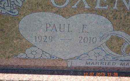 OXENRIDER, PAUL E. - Branch County, Michigan | PAUL E. OXENRIDER - Michigan Gravestone Photos