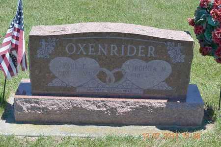 OXENRIDER, PAUL E. - Branch County, Michigan | PAUL E. OXENRIDER - Michigan Gravestone Photos