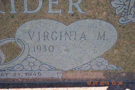 OXENRIDER, VIRGINIA M. - Branch County, Michigan | VIRGINIA M. OXENRIDER - Michigan Gravestone Photos
