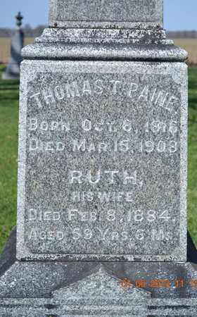 PAINE, THOMAS/RUTH - Branch County, Michigan | THOMAS/RUTH PAINE - Michigan Gravestone Photos