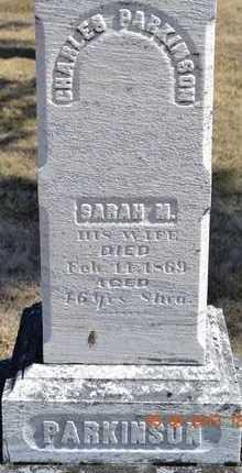 PARKINSON, CHARLES/SARAH - Branch County, Michigan   CHARLES/SARAH PARKINSON - Michigan Gravestone Photos