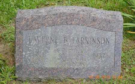 PARKINSON, LAVERNE R. - Branch County, Michigan | LAVERNE R. PARKINSON - Michigan Gravestone Photos