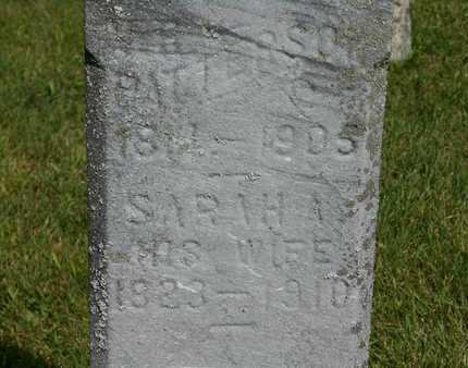 PATTERSON, SARAH A./V.R. - Branch County, Michigan | SARAH A./V.R. PATTERSON - Michigan Gravestone Photos
